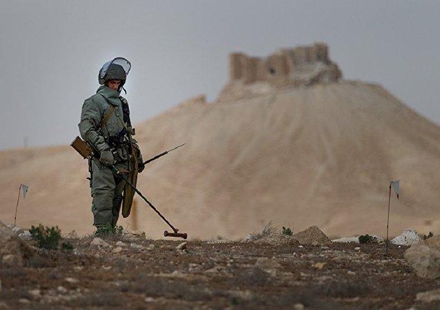 俄國防部與聯合國排雷行動處討論俄工兵在敘工作成果