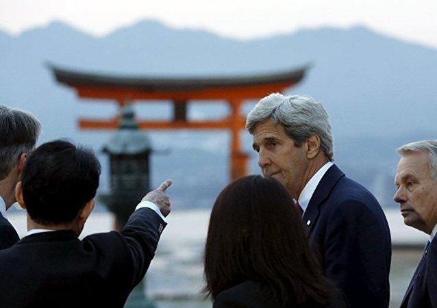 美国务卿强调其广岛之行对美日关系意义