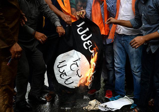 """研究:""""伊斯兰国""""宣传力度一年来明显减弱"""