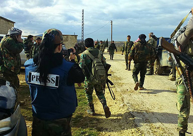 战地记者在叙利亚