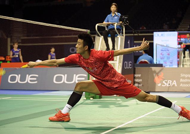羽毛球——新加坡公开赛:谌龙止步八强
