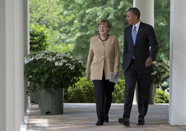 美国总统奥巴马和德国总理默克尔