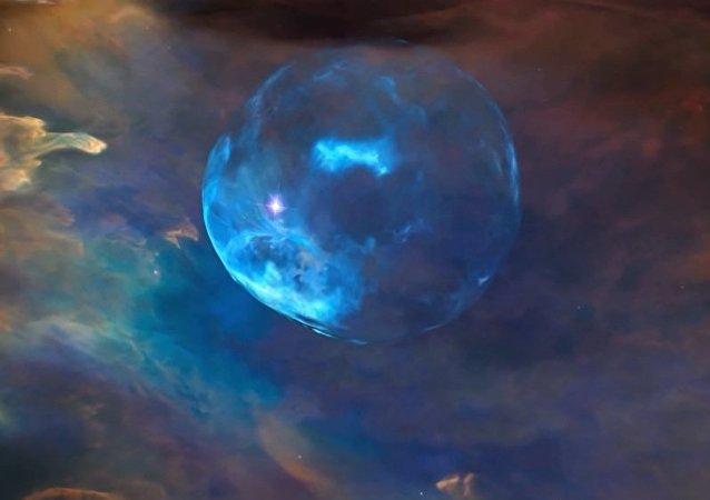 """星星""""吹泡泡""""为哈勃望远镜庆生"""