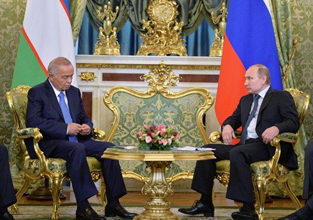 俄罗斯与乌兹别克斯坦总统讨论国际与双边以及地区局势问题