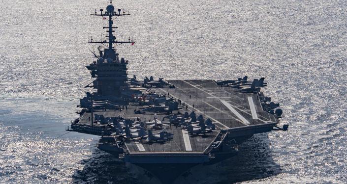 """美国海军""""杜鲁门""""号航母战斗群前往地中海"""