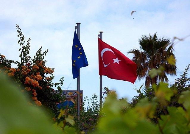 欧盟与土耳其国旗