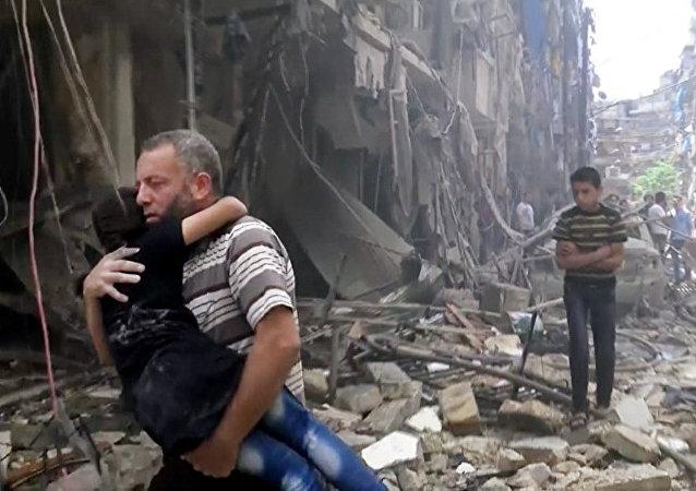 俄国防部:武装分子炮击阿勒颇造成超过50名平民丧生