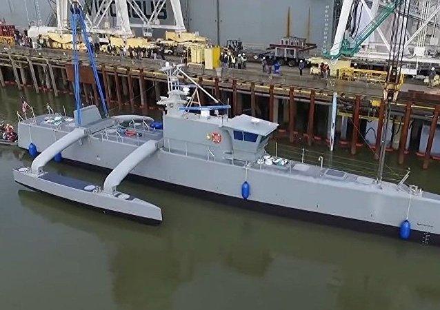 """美军无人驾驶军舰""""海上猎人""""号"""