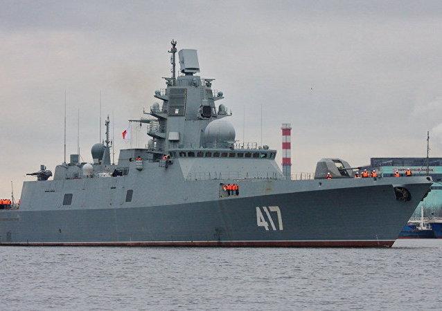 俄北方造船廠:「戈爾什科夫海軍上將」號護衛艦最後階段測試定在春季