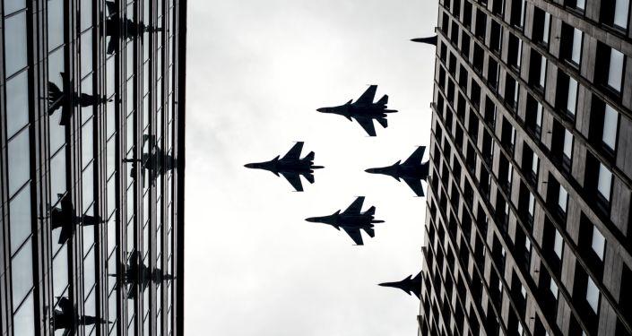 空军胜利日游行彩排