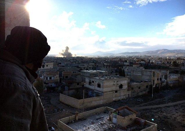 消息人士:叙利亚空军对大马士革东北郊区的武装分子进行大规模空袭 ВВС