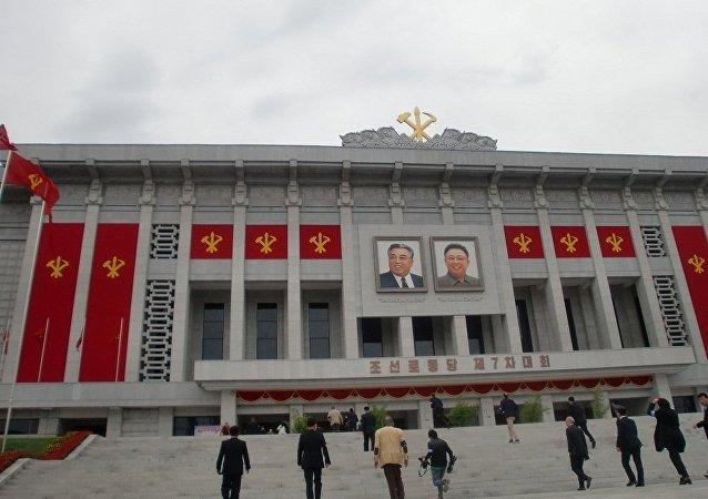 """朝鲜代表团前往北京参加""""一带一路""""国际合作高峰论坛"""