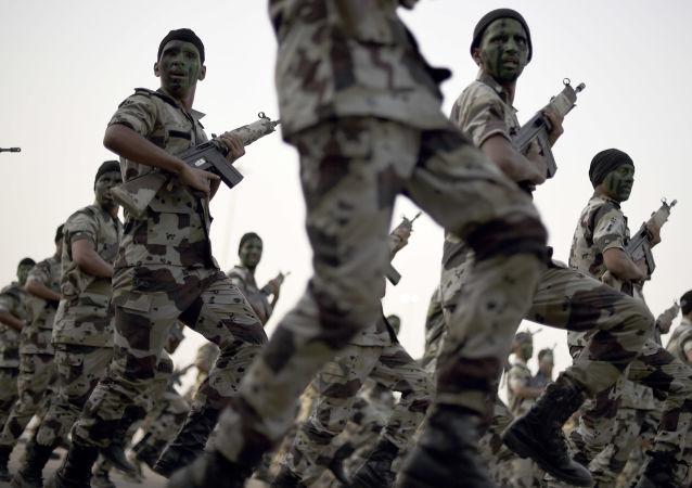 沙特美国马来西亚特种部队在沙特西北部举行演习