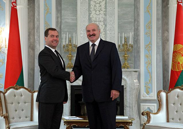 亚历山大•卢卡申科与德米特里•梅德韦杰夫