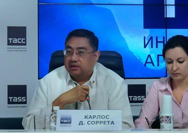 菲律宾驻俄联邦大使卡尔洛斯•所列塔