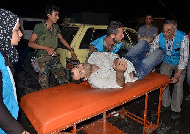 电视台:恐怖分子残害叙利亚扎拉村居民/资料图片/
