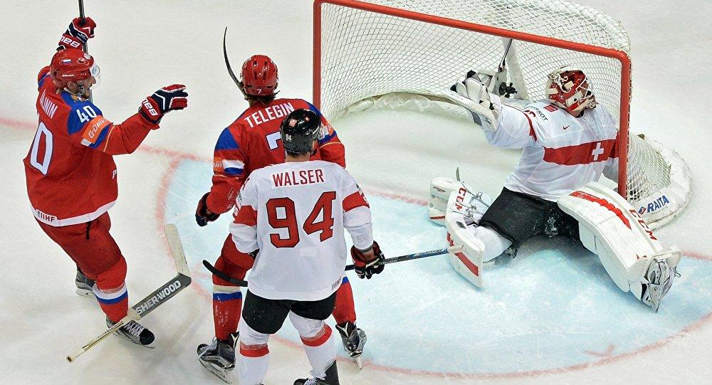 7 俄冰球隊在世錦賽中擊敗瑞士隊晉級淘汰賽