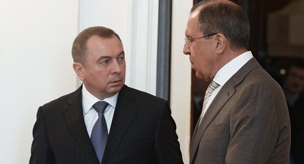 俄外长拉夫罗夫与白俄罗斯外长马克伊