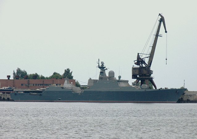"""俄方为越南海军建造的第二艘""""猎豹3.9""""级护卫舰5月25日下水"""