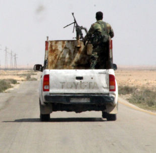 叙利亚军人在拉卡