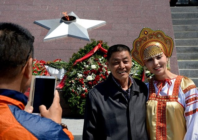 中国旅游者在俄罗斯/资料图片/