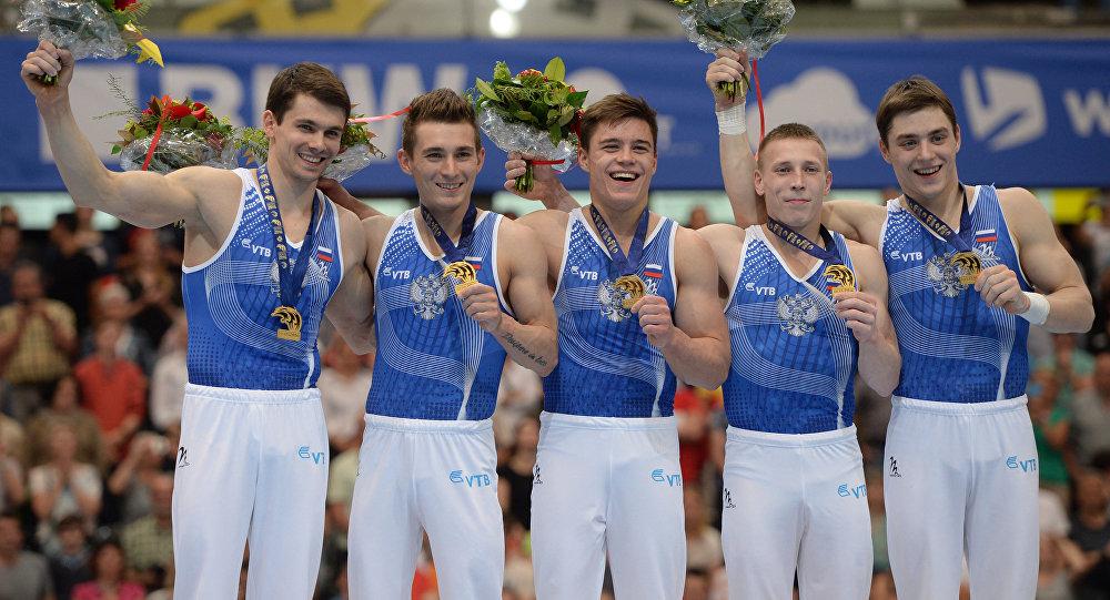 俄体操队在欧锦赛团体赛中夺得金牌