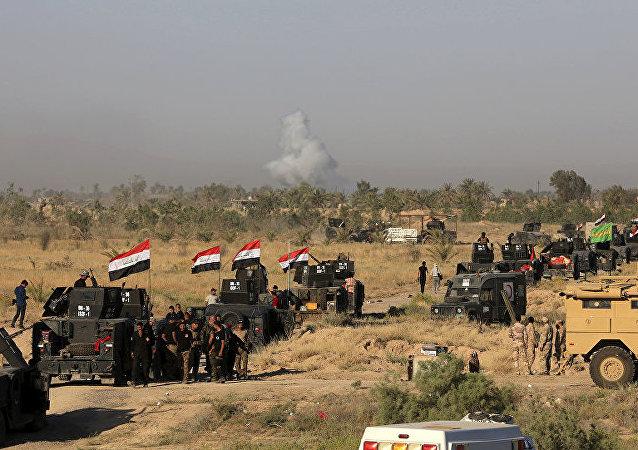 电视台:伊拉克政府军彻底解放摩苏尔附近的古城尼姆鲁德
