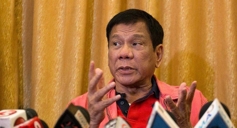 菲律宾新当选总统罗德里戈•杜特地