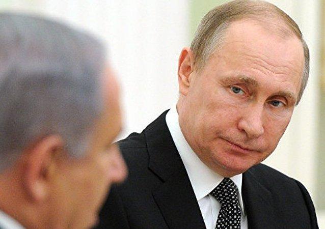 普京和内塔尼亚胡讨论叙利亚危机和巴以问题