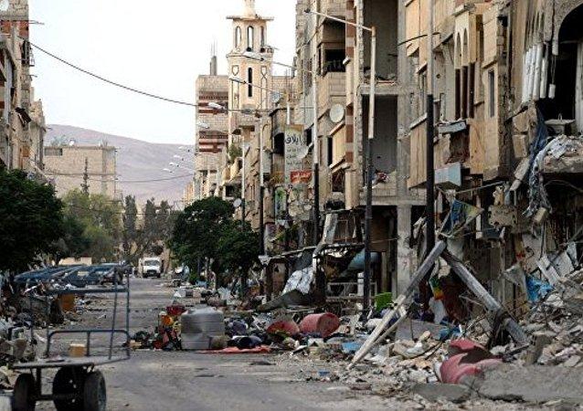 叙阿勒颇炮击中受伤女孩被俄伊尔-76运输机送至莫斯科