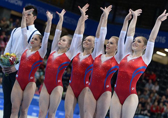 俄女子体操队在欧锦赛上非官方团体总分第一