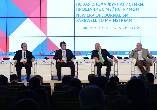 """""""今日俄罗斯""""国际通讯社总经理:替代信息需求因追求多极世界而增长"""