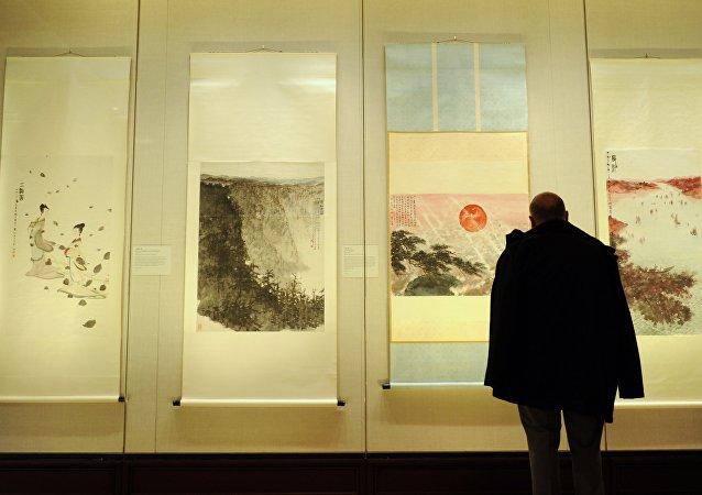 2012年在大都会艺术博物馆中的傅抱石作品展