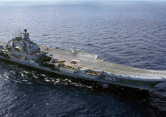 """俄海军唯一一艘航母""""库兹涅佐夫元帅""""号"""