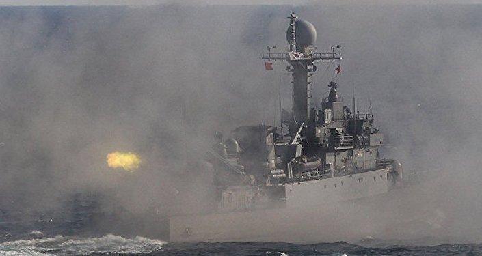 韩国海军举行应对朝鲜挑衅边境防卫演习