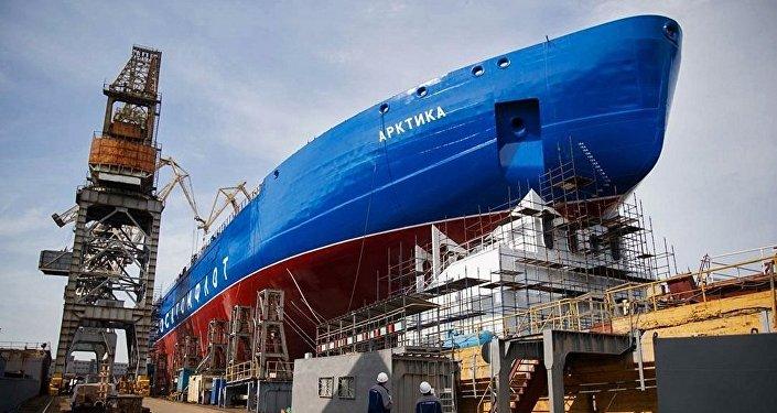「烏拉爾」號核動力破冰船將於7月25日在聖彼得堡舉行鋪設龍骨儀式