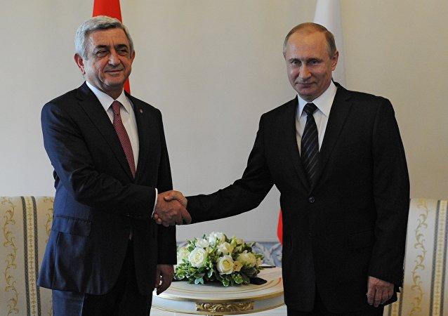 普京:俄罗斯与亚美尼亚的关系在一体化进程框架内迅速发展