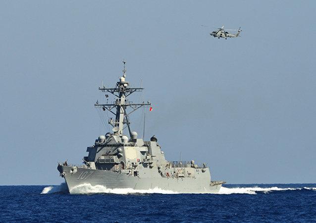 消息人士:罗马尼亚康斯坦察地区发现装有宙斯盾系统的美卡尼号驱逐舰