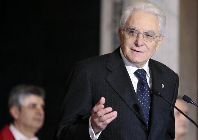 意大利总统塞尔焦•马塔雷拉