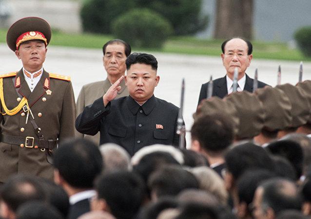 """金正恩在内阁选举后进行了首次""""现场指挥"""""""