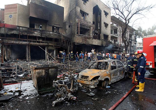 媒体:巴格达恐怖袭击死者达165人