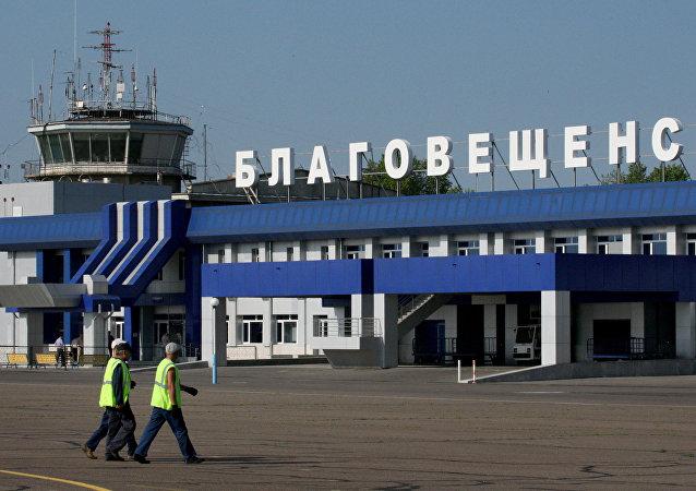 普京抵达中国边境旁的布拉戈维申斯克市