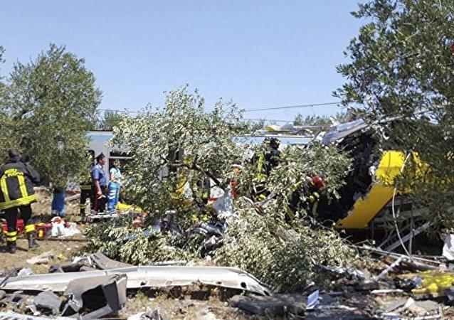 医务人员:意大利南部火车相撞造成23人遇难
