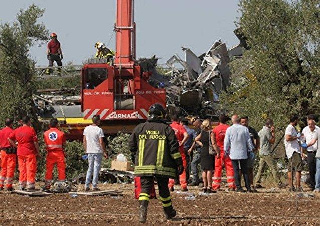 普京就意大利火车相撞事故向意大利总理致慰问电