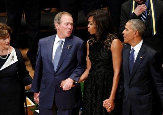 乔治·布什跳舞