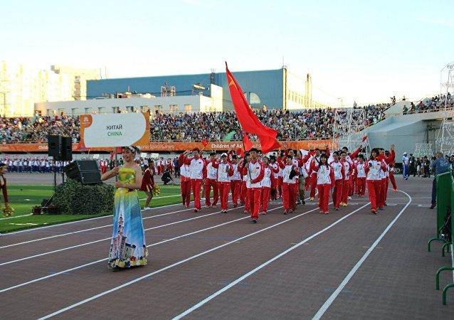 中国运动员: 亚洲儿童国际运动会促进各国家的关系