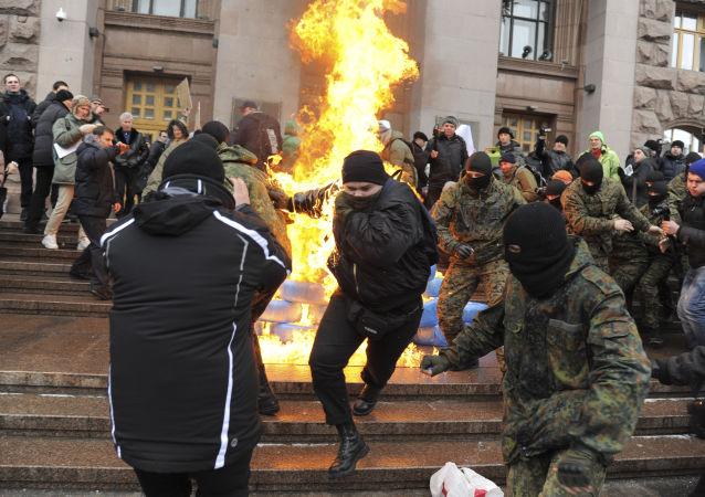 俄官员谴责乌克兰政府在俄国合署遭袭后毫无作为