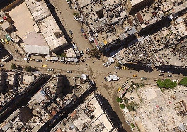 俄国防部:阿勒颇恐怖分子不会减少对民房和人道主义车队的密集炮击力度