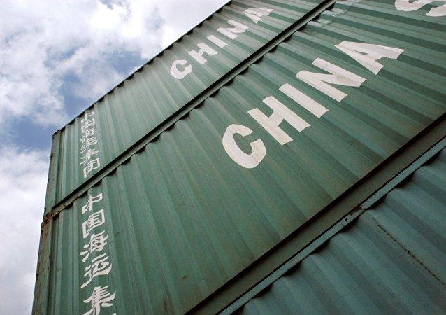 中国商品列车已沿新线路从中国广东发往俄罗斯