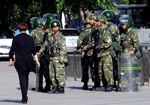 中国警察在新疆